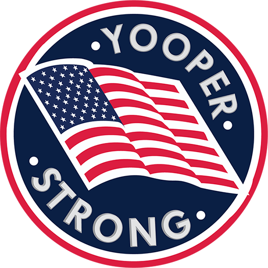 YOOPER STRONG OA FLAG bevel small